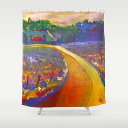 The Road to Chateau Chantal Shower Curtain