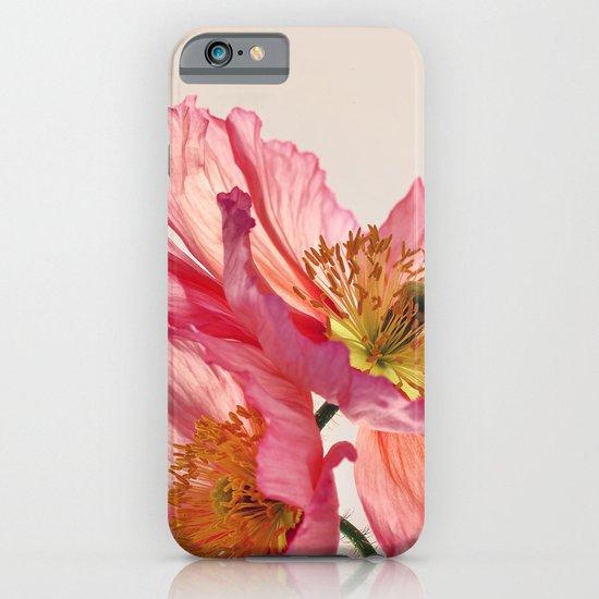 Like Light through Silk - peach / pink translucent poppy floral iPhone & iPod Case