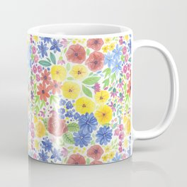 Floral watercolor pattern white Coffee Mug