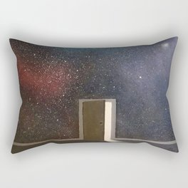 Door to the world Rectangular Pillow