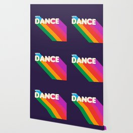 RAINBOW DANCE TYPOGRAPHY- let's dance Wallpaper