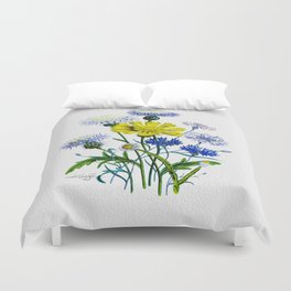 Asters by Kathy Morton Stanion Duvet Cover
