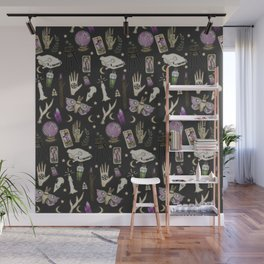 WITCH pattern • in black salt Wall Mural