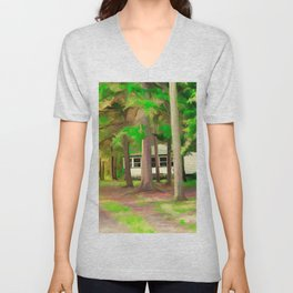 Our Forest Watercolor (Color) Unisex V-Neck
