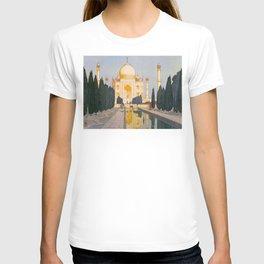 The Taj Mahal Gardens Hiroshi Yoshida Japanese Woodblock Prints T-shirt