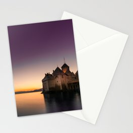Sunset At Chillon Stationery Cards