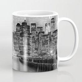 MANHATTAN Skyline   Graphic Art   white Coffee Mug