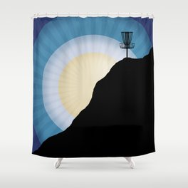 Basket On A Mountain Shower Curtain