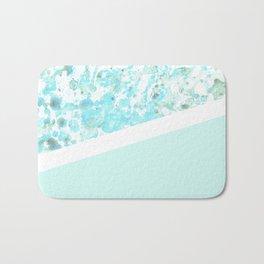 Aqua Splatter - Diagonal Bath Mat