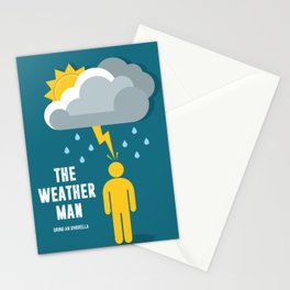 The Weather Man - Alternative Movie Poster Stationery Cards