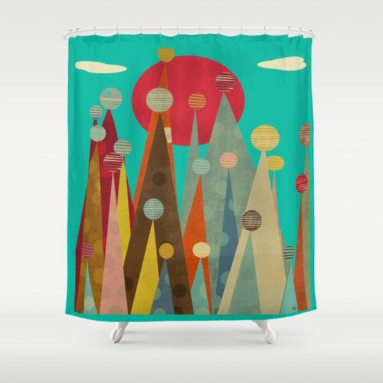 pleasure peaks Shower Curtain