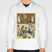 cafe Hoodies featuring Taxidermy Cafe by CHAR ODEN