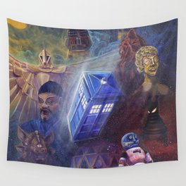"""""""13 in 50"""" a Tribute to Doctor Who Wall Tapestry"""
