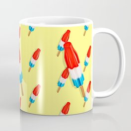 Red White and Blue Rocket Pop Pattern Coffee Mug