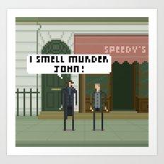 Sherlock 221B Art Print