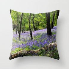 Bluebell Wood. Throw Pillow