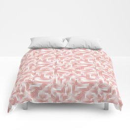 Kip and Flo in Coral on White Comforters