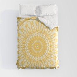 Orange and Pale Yellow Mandala Comforters