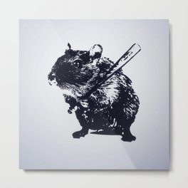 Angry mouse Metal Print