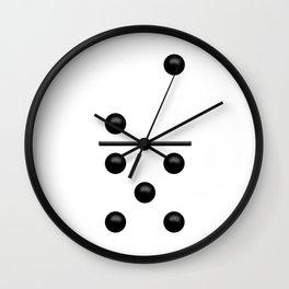 White Domino / Domino Blanco Wall Clock