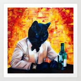 Cat Capone Art Print