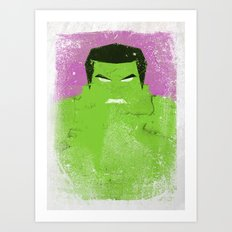 The Grunge Green Rage Art Print