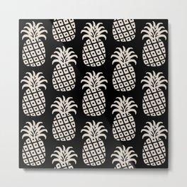 Retro Mid Century Modern Pineapple Pattern 546 Metal Print