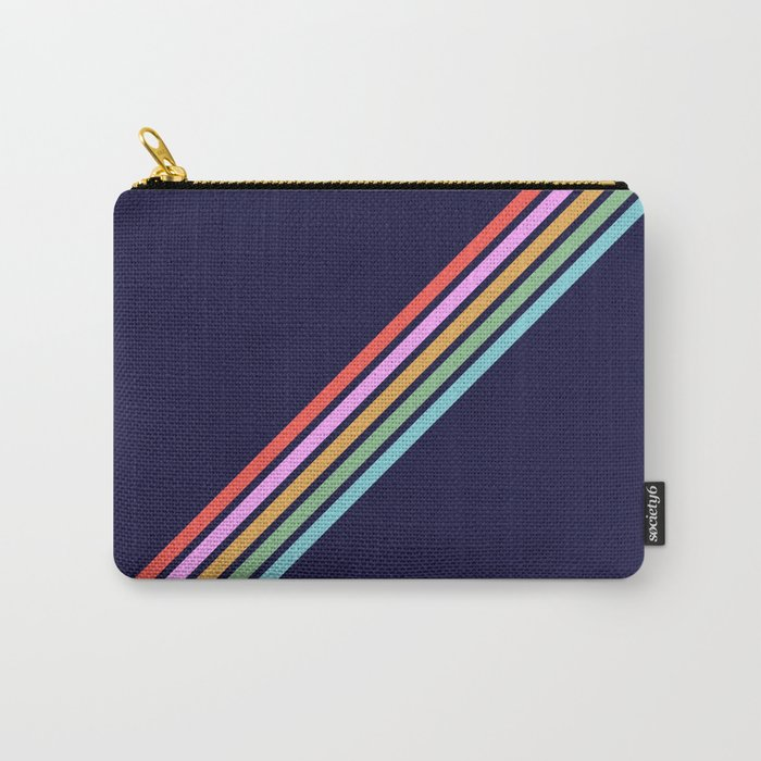 Bathala - Minimal Classic 80s Style Graphic Design Stripes Carry-All Pouch