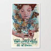 Tiny Little Pieces Canvas Print
