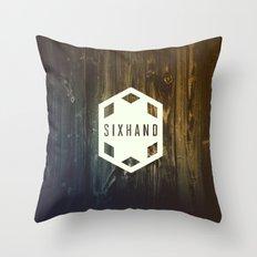 SIXHAND Throw Pillow