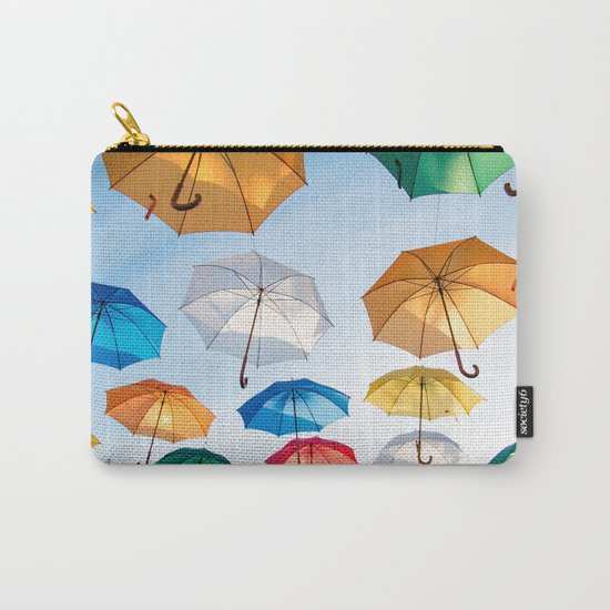 umbrellas flying Carry-All Pouch