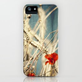 chAos one - red poppies in wheat field iPhone Case
