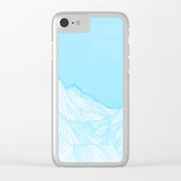 Lines in the mountains - Aqua Clear iPhone Case