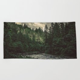 Pacific Northwest River - Nature Photography Beach Towel