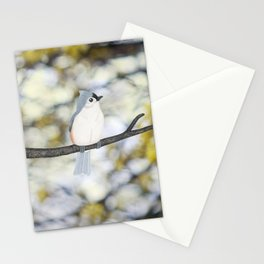 tufted titmouse - bokeh Stationery Cards