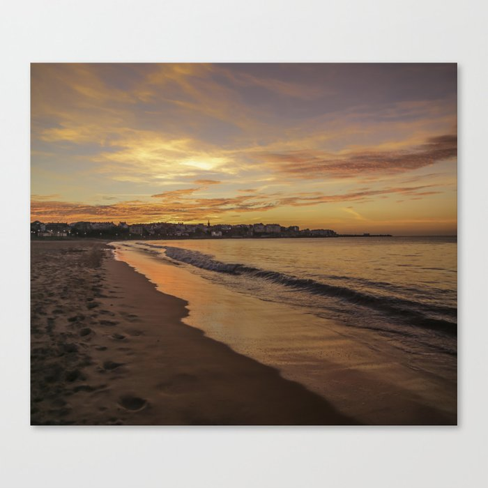 Last light on the Port Canvas Print