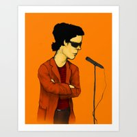 lou reed Art Prints featuring Lou Reed by Nick Gibney
