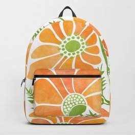 Happy California Poppies / hand drawn flowers Backpack