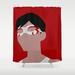 Flying Grayson Minimalism Shower Curtain