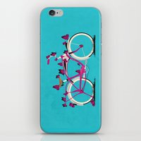 brompton iPhone & iPod Skins featuring Butterfly Bicycle by Wyatt Design