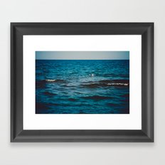 Above the Water and Into the Sky Framed Art Print