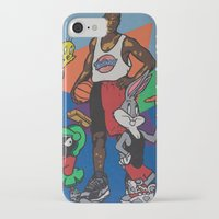 space jam iPhone & iPod Cases featuring Space Jam Shoes by pooleboy
