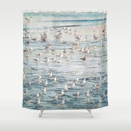 The Gangs All Here Seascape Shower Curtain