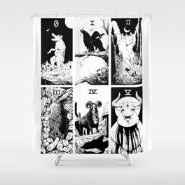 Tarot 0-5 Shower Curtain