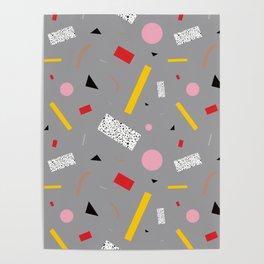 Memphis Milano Deconstructed Tahiti Table Lamp Confetti Poster