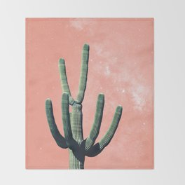 Pink Cactus Boho Mexican Throw Blanket
