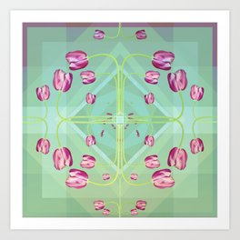 Tulips in green shades Art Print