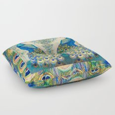 Blue Peacocks Floor Pillow