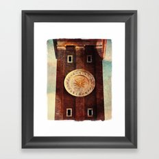 Zodiac Clock Framed Art Print