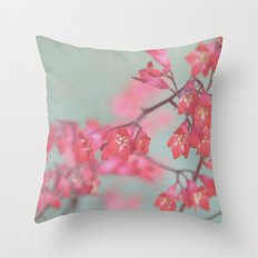 coral & green Throw Pillow
